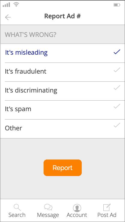 report ad